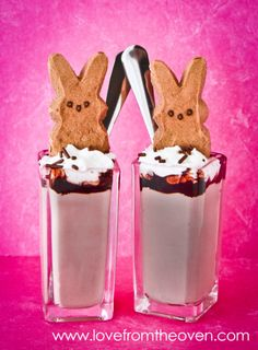 PEEPS Chocolate Mousse Dessert Shooters by Love From The Oven