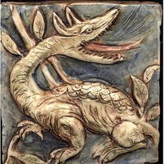 B.A. Schmidt Arts  Enterprises Dragon Tile