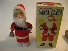 Vintage Christmas Collectible ~ Santa Claus Bell Ringer Toy.