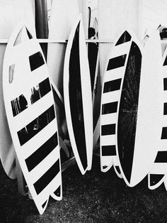 Surf boards black an