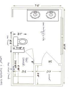 Dream master bedroom on pinterest bathroom layout for 8 x 6 bathroom layout ideas