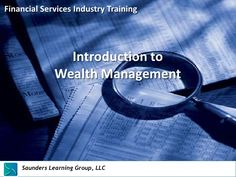 Now you can learn about the special products and services provided to the very rich by bankers and wealth management firms.  The rich are getting richer and banks are creating services to met their specialized needs. Learn more in this introduction. wealth-management-overview-13557408 by Floyd Saunders via Slideshare