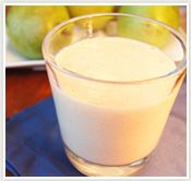 Ginger-Pear Oat Smoothie = 150 calories