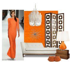 Fashion + Decor Design Board: Orange Crush
