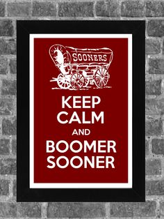 Keep Calm Oklahoma Sooners NCAA Print Art 11x17---For our Sooner bathroom. ...and for all my Sooner loving friends that will repin. :)