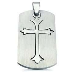 316L Stainless Steel Religious Pendant - Dual Cross (Jewelry) http://www.amazon.com/dp/B007NNGH8Q/?tag=repined-20 B007NNGH8Q
