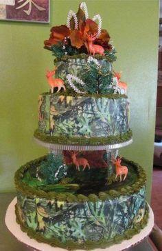 Wedding cake idea - if you like camo/outdoors