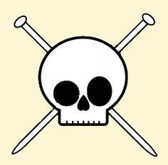 Skull & knitting needles