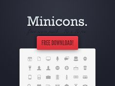 Miniicons-free-minimal-clean-icons - 25 sets