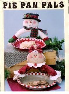 Moldes navideños para manualidades en fieltro