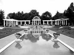 Reflecting pool & courtyard of Lakeside Park  Fort Wayne Indiana