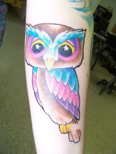Youth Tattoos: Cartoon Owl Tattoos