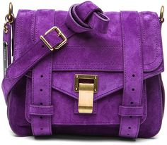 Proenza Schouler Purple Ps1 Pouch Suede