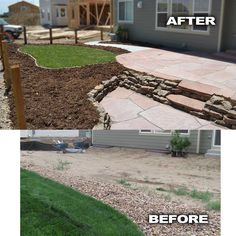 tiered yard landscaping | ... yard privacy before and after featured back yard with sod plants