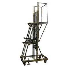Industrial Crank Scaffold Ladder  like bringing a gun to a pencil fight