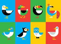 de ryan, ilustracion, art, bird illustr, bird bonanza, birds, simple illustrations, design, ryan chapman