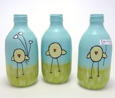 painted chick bottles