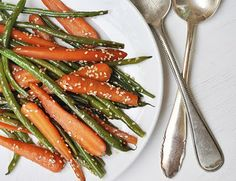 Sesame beans and carrots.