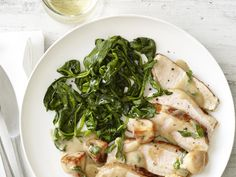 Pork Marsala With Spinach Recipe : Food Network Kitchen : Food Network - FoodNetwork.com