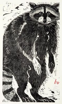 Holly Meade Coon woodblock print