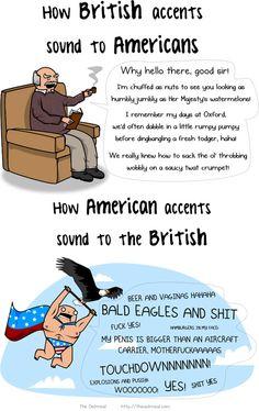 British accent vs. American accent