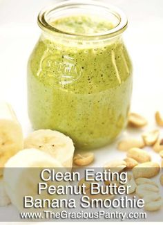 Clean Eating Peanut Butter And Banana Smoothie  #cleaneating #cleaneatingrecipes #eatclean #smoothies #smoothierecipes