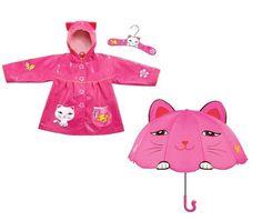 Kidorable Lucky Cat Rain Coat and Umbrella Set