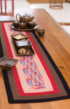 Square on Square Table Runner | Red Heart