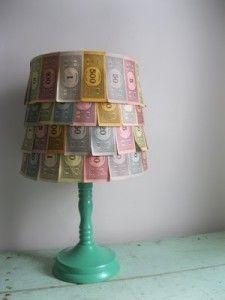 Monopoly Money Lamp