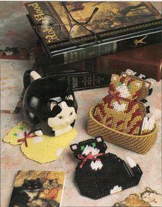 Fat Cat Coasters Plastic Canvas Pattern
