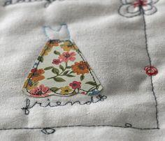 Paper Dresses:  Free Motion Stitching Quilt Tute