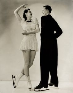 Bess Ehrhardt and Roy Shipstad of the Ice Follies, in 1936