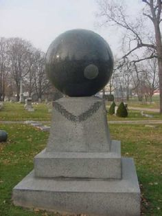 The mysterious rotating Merchant Ball, Marion Cemetery, Marion, Ohio, featured in Ripley's Believe It or Not. (from the Avalon Foundation, story by Nicholas Reiter and Lori Schillig)