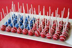 Flag cake pops