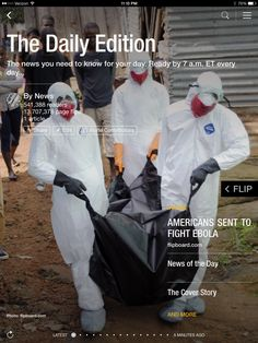 Americans to fight Ebola, battle for Scottish Independence and race for the Senate. Check out today's edition: flip.it/dailyedition