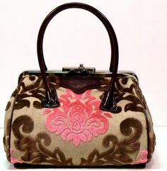 penelope bag in pink and chocolate