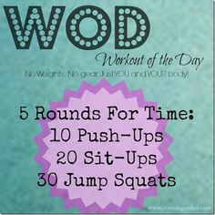 Fun WOD to do at home... using ONLY your body weight!  No more excuses! #FitFluential #WOD #workout