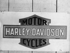 vintage logo from harley-davidson