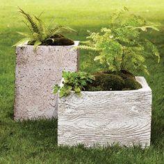 ... stewart cement faux bois planters diy hypertufa concrete planters