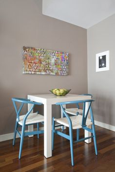 Square Parsons Dining Table from West Elm in a kitchen via @Gilda Locicero Therapy