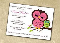 owl shower invite