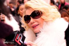 Joan Rivers is seen around Lincoln Center during Fall 2012 Mercedes-Benz Fashion Week at Lincoln Center on February 14, 2012 in New York City.