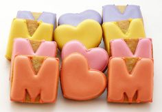 Decorated Cookies - Mother's Day - Mom via Etsy.