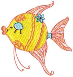 Decorative Sea Creatures by Bunnycup Embroidery at http://www.bunnycup.com/embroidery/design/DecorativeSeaCreatures
