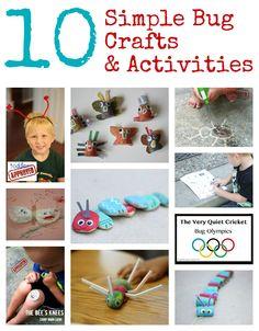10 Bug Crafts & Activities