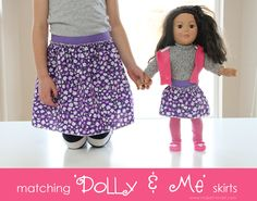 diy tutori, diy match, sew, doll cloth, girl, match dolli, circle skirts, dolly diy, crafti idea