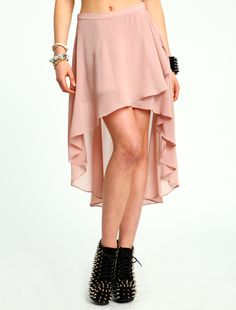 WRAPPED HI LOW SKIRT