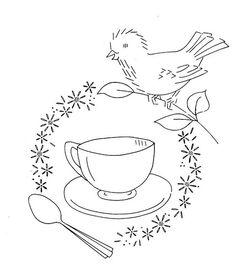 birds kitchen embroidery