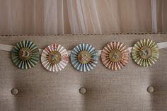 whimsical paper medallion DREAM banner by TheRustyAttic on Etsy, $17.00