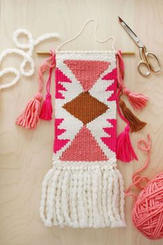 DIY Decor Projects shares a free tutorial with step-by-step pictures for how to create your very first weaving.  After taking my recent weaving class, I can't recommend this highly enough!  Check it out via the link!
